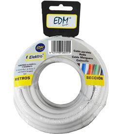 Edm carrete manguera tubular 2x0,75mm blanca 10mts 8425998281071 - 28107
