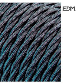 Edm cable textil trenzado 2x0,75mm c-63 gris oscuro seda 5m 8425998118728 - 11872