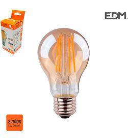Edm bombilla standard filamento led cristal vintage e27 6w 500 lm 2000k luz ca 8425998986259 - 98625
