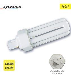Sylvania bombilla lynx-t g24-d2 18w 840k 2 pin '''' (equivalencia philips: pl 5410288278025 - 97521