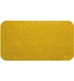 5 alfombra interior ducha antideslizante pvc rectangular mostaza 69x39cm 360238344903 - 01740