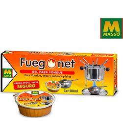 Masso gel para fondue 3x100ml 8424084003023 Fondue Calentadores - 85886