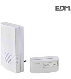 Edm timbre sin hilo pulsador receptor a red 230 v (50-80 mtrs) 8425998493023 - 49302