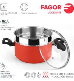 Olla maxima+tapa+steamer ø20cm roja aluminio 3004 Fagor 8429113801243 - 78547