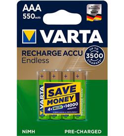 Varta pila recargable accu endless aaa lr03 550mah pack 4 uni 4008496928293 - 38624