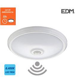Edm aplique de superficie con sensor y luz de emergencia ip20 1100 lumens 16w 3 8425998325119 - 32511