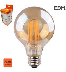 Edm bombilla globo filamento led cristal vintage ø 80 mm e27 8w 700 lm 2000k lu 8425998986266 - 98626