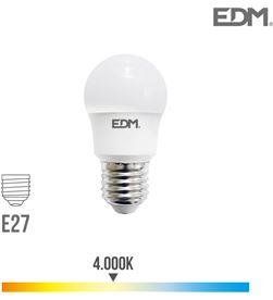 Edm bombilla esferica led e27 8.5w 940 lm 4000k luz dia 8425998987263 - 98726