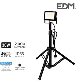 Edm foco proyector led con tripode 30w 6400k 2000 lumens 8425998703269 - 70326