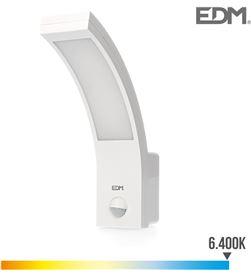 Edm aplique exterior led 10w 750 lumen 6.400k con sensor 8425998325362 - 32536
