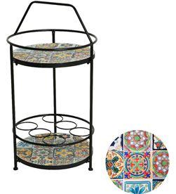 No mesa auxiliar botellero mosaico modelo praga exterior 40x76cm 8719152693603 - 83280