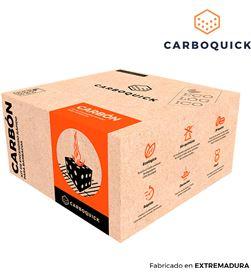 Carboquick 1,6kg carbon para bbq 25x25x13cm 8437017793014 - 73875