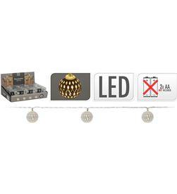Decorative guirnalda a pilas 10 led bolas color plata 8718158706621 - 71316