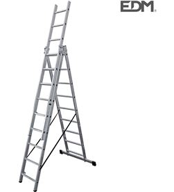 Escalera transformable aluminio 3x9 peldaños Edm 8425998750935 - 75093