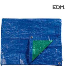 Edm toldo 6x10mts doble cara azul/verde ojales de metal densidad 90grs/m2 8425998749953 - 74995