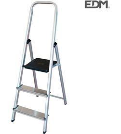 Escalera domestica aluminio 3 peldaños Edm 8425998750522 - 75052