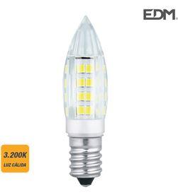 Edm bombilla mini vela led e14 3w 280 lm 3200k luz calida dm 8425998988857 - 98885