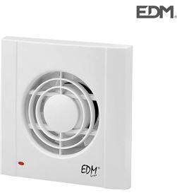 Extractor de aire 13w ø98 mm 120m3 con temporizador marco 2cm ancho Edm 8425998084047 - 08404