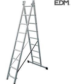 Edm escalera transformable aluminio 2x9 peldaños 8425998750911 - 75091
