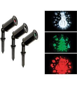 Lumineo set 3 proyectores led exterior (santa, arbol y muñeco de nieve) 8719152355426 - 71633