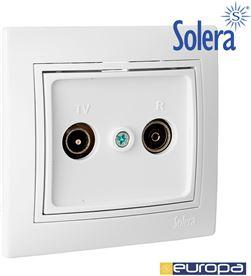 Solera toma de señal para tv y radio color blanco monobloc 83x81mm s. europa soler 8423220076648 - 42899
