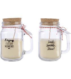Modern vela perfumada en jarra 2 modelos surtidos con mensaje 8719152296354 - 71743