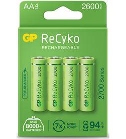 Gp pila recargable alta capacidad recyko r6 aa 2600mah (blister 4 pilas) 4891199187094 - 38427