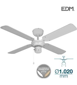 Edm ventilador de techo modelo baltico blanco 50w ø aspas 102 cm 8425998338027 - 33802