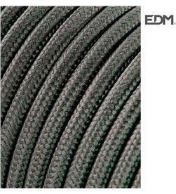 Edm cable cordon tubulaire 2x0,75mm c63 gris oscuro 5mts 8425998118551 - 11855