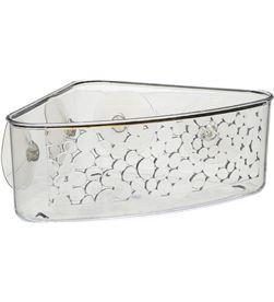 Five cesta de plastico transparente esquinera para baño con ventosas modelo gale 3560237330112 - 01758