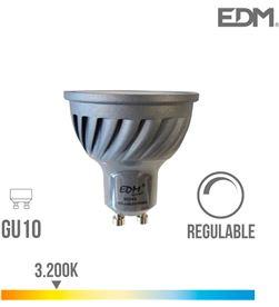Bombilla led gu10 6w regulabe 3.200k luz calid Edm 8425998352894 - ELEK35289