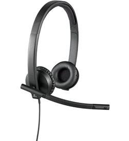 Auriculares Logitech h570e/ con micrófono/ usb/ negro 981-000575 - LOG-AUR H570E