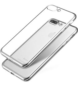 Jc carcasa transparente con borde plata Apple iphone 7/8 plus IPHONE 7 PLUS C - +97531