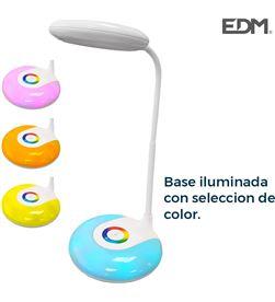 Edm 30104 #19 flexo recargable led 3w 180 lumens smd y funcion rgb 6.400k bateria inclui 8425998301045 - 30104 #19