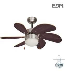 Edm ventilador de techo modelo aral wengue/niquel satinado 50w ø aspas 76 cm ed 8425998339840 - 33984 #19
