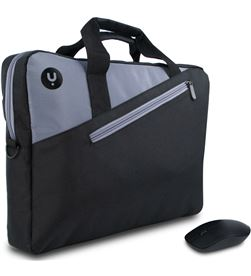 Ngs maletín + ratón inalámbrico monray master kit black - para portátiles hasta masterkitblack - MASTERKITBLACK