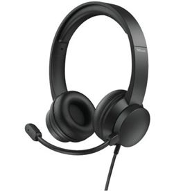 Trust -AUR HS-200 auriculares h 200 on-ear 24186/ con micrófono/ usb/ negros - TRU-AUR HS-200