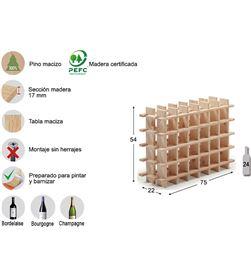 Botellero evolutivo rioja para 24 botellas pino macizo Astigarraga 8422341700050 - 75263 #19