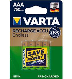 Varta 38626 #19 pila recargable accu endless aaa lr03 750mah pack 4 uni 4008496928330 - 38626 #19
