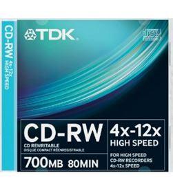 Tdk cd regr.cd-rw 700 mb 4x-12x cdrw Ofertas - 06147134