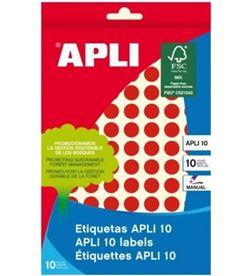 Todoelectro.es etiquetas adhesivas circulares apli 02732 - para escritura manual - ø10mm - - API-ETIQUETA 02732
