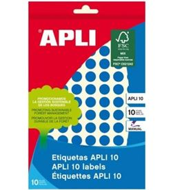 Todoelectro.es etiquetas adhesivas circulares apli 02731 - para escritura manual - ø10mm - - API-ETIQUETA 02731