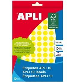 Todoelectro.es etiquetas adhesivas circulares apli 02730 - para escritura manual - ø10mm - - API-ETIQUETA 02730