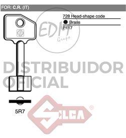 Silca llave frontal 5r7 c.r. 8003736225343 LLAVES - 12088