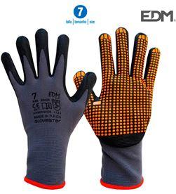 Edm guante soporte nylon y recubrimiento punteado de nitrilo talla 7 8425998802085 - 80208