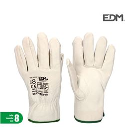 Edm guante talla 8 de cuero 8425998802214 PROTECCIÓN LABORAL - 80221