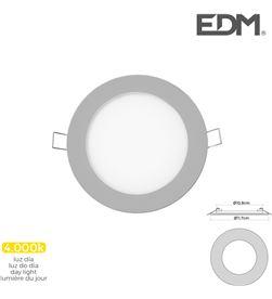 Edm mini downlight led 6w 320 lumen redondo 12cm 4.000k marco cromo 8425998316049 - 31604