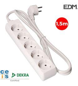 Edm base multiple 5 tomas schuko 1,5m 3x1,5mm 8425998410051 - 41005