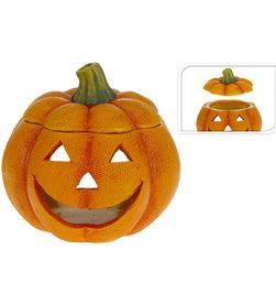 No portavelas calabaza halloween ceramico 14x14x13,5cm 8711295793820 - 71857