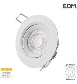 Downlight led empotrar 5w 3.200k redondo marco blanco Edm 8425998316520 - 31652